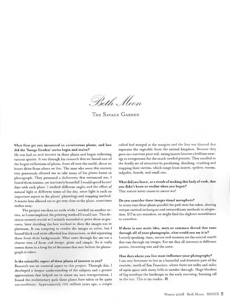 Shots 102 | Winter 2008 p 5